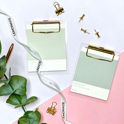 Gold Pocket Clipboard - Beige