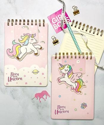 Notebook - Dreamy Unicorn - White