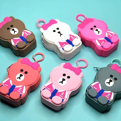 Waterproof Keychain Pouch - Teddy - Hot Pink