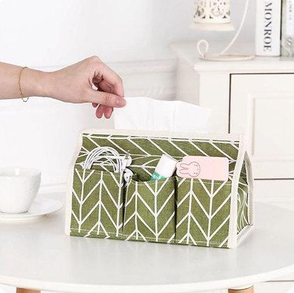 Tissue Box Organizer - Green