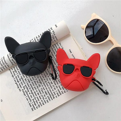 AirPods 1 & 2 Case - French Bulldog - Red