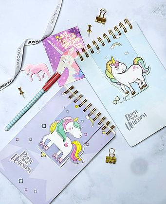Notebook - Dreamy Unicorn - Purple