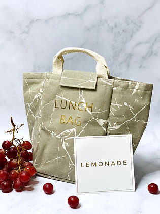 Insulated Lunch Bag - Marble Grey