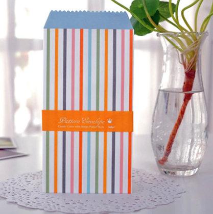Vintage Envelopes - Pastel Stripes - Set of 5