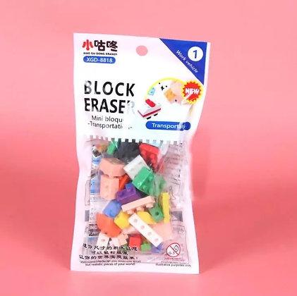 Block Puzzle Lego Erasers