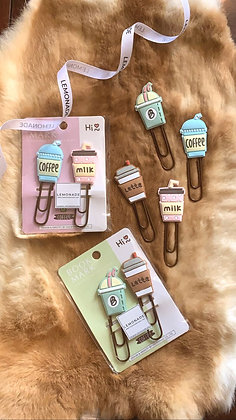 Jumbo - Bookmark PaperClip - Caffeinated - Set of 2 - Milk Green