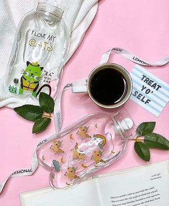 Mini Transparent Hot Water Bags - I Love My Cats