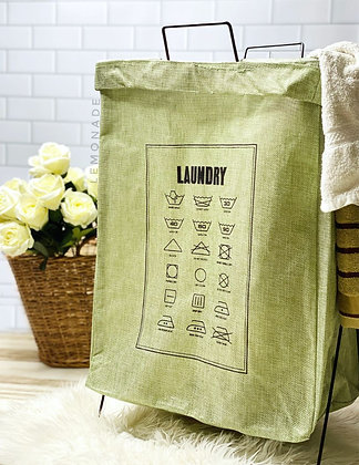 Laundry Basket - Green Wash Signs
