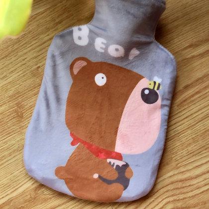 Velvet Hot Water Bags - Bear
