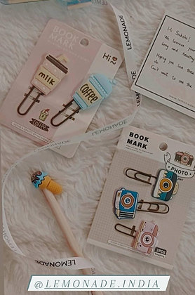 Bookmark PaperClips - Camera - Set of 3 - Purple Blue Multi