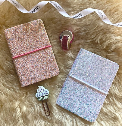 Shimmer Notebook - Galaxy with Elastic Enclosure