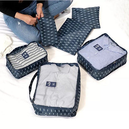 Closet & Travel Organizer - Blue Fern - Set of 6