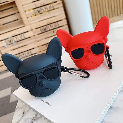 AirPods 1 & 2 Case - French Bulldog - Black