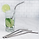 Thumbnail: Ecofriendly Stainless Steel Straws - Set of 3 + Cleaner