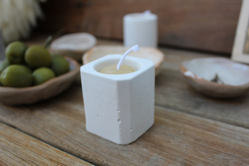 Mini Beeswax Cement Candle
