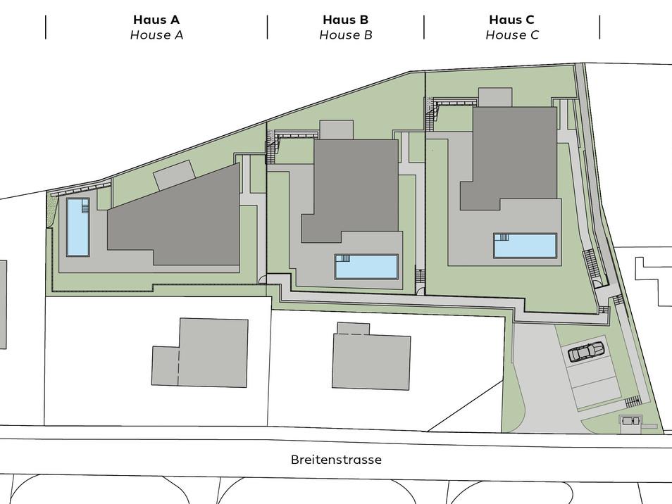 Übersicht Gartengeschoss/Overview garden level