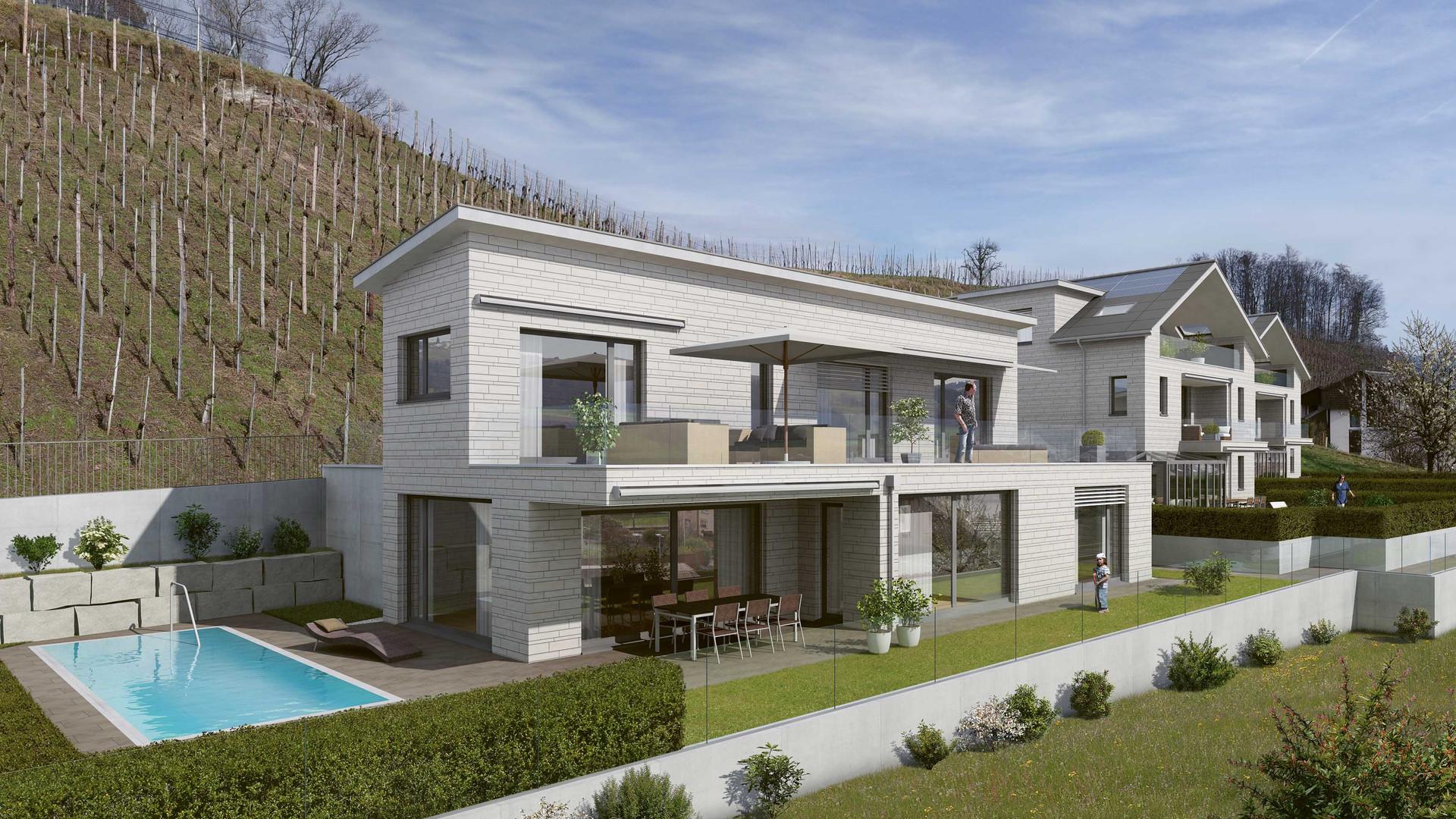 Haus/House A, B und C
