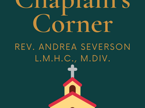 Chaplain's Corner with Rev. Andrea Severson
