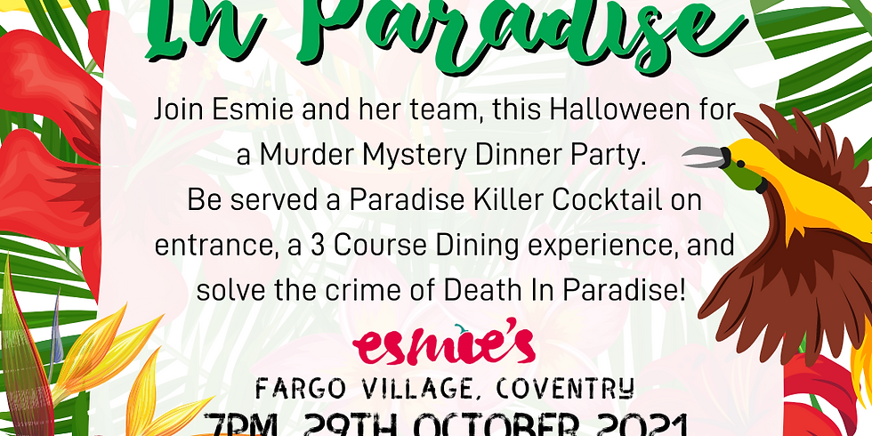 Death In Paradise: Esmie's Halloween Murder Mystery Dinner Party