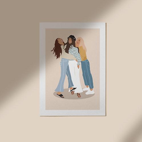 Persoonlijke illustratie - Drie of meer personen