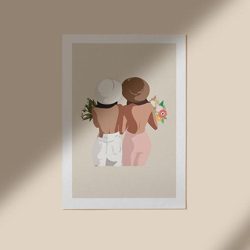Persoonlijke illustratie - Twee Personen