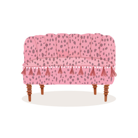 Tiny couch illustration