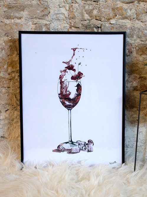 Print Wine and roses