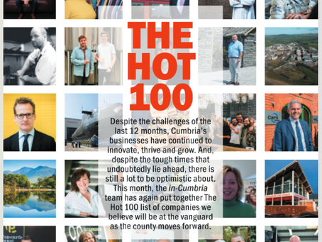 Delkia named as one of Cumbria's Hot 100 Businesses