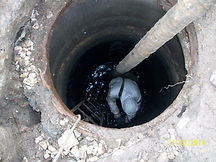 очистка канализационного колодца_001