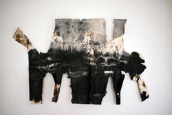 Elegy for Mother Earth I_Claire LEE_Ink and bitumen paint on paper_13x20cm
