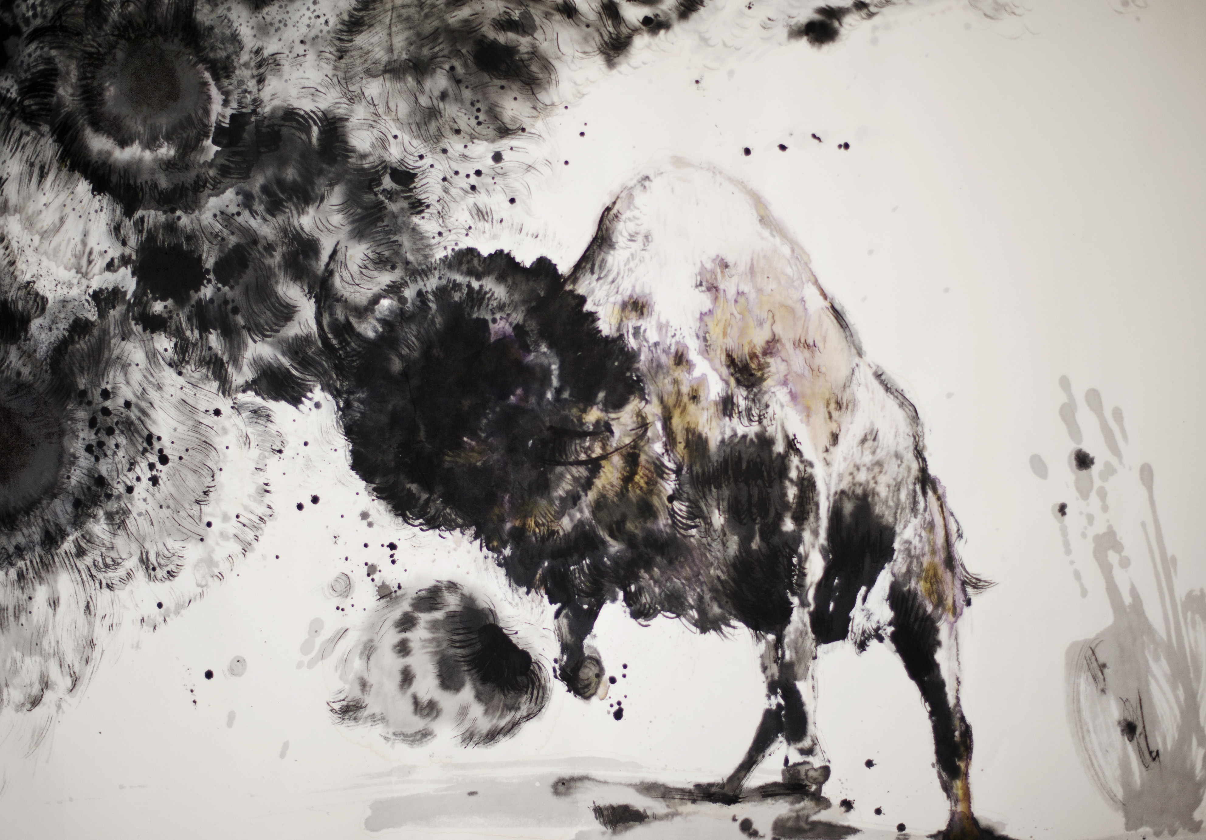 The Awakening (detail 1)_Claire LEE_ink on paper_47x188cm