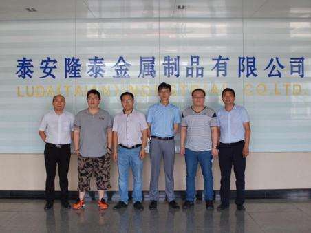富海集团领导、项目负责人、工程师等一行人到公司视察,对工厂高度认可。达成了长期合作意向