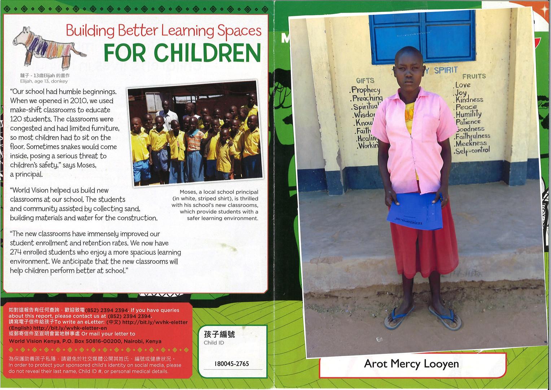 Kenya-Arot Mercy Looyen Progress Report
