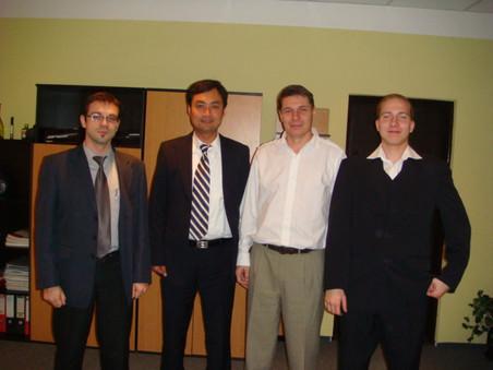 与公司驻东欧办事处同事Tim一起拜访捷克大客户