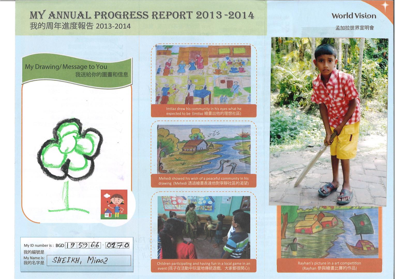 Bangladesh-Sheikh Minaz Progress Report