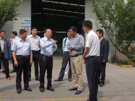 肥城市委领导视察泰安隆泰金属制品有限公司