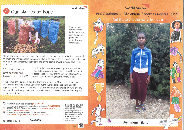 Ethiopia-Ayinalem Tilahun Progress Repor