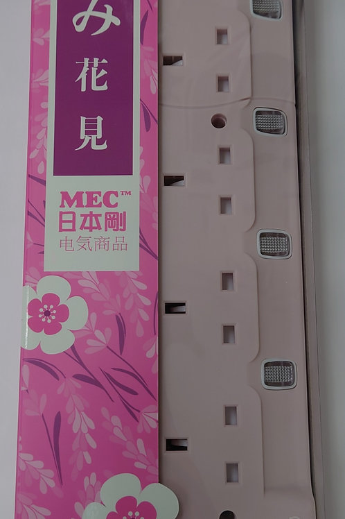 MEC Power Bar RB-4USBT/6'/3.6A Pink+ Timer 3.6A, 4USB outlet