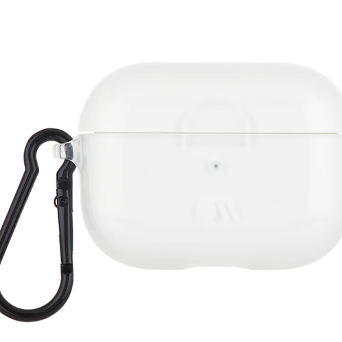 AirPods PRO Hookups Clear with Black Carabiner Clip