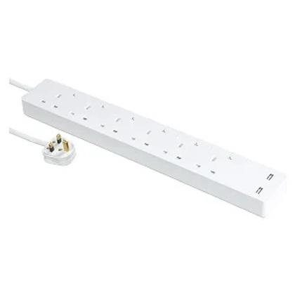 施耐德電氣 13A 獨立開關安全插座  連兩位USB充電插座(連3米線)
