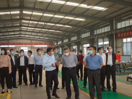山东省政府和省委领导视察泰安隆泰金属制品有限公司
