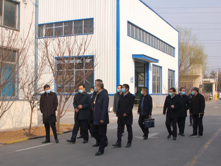 泰安市委领导一行人视察泰安隆泰金属制品有限公司