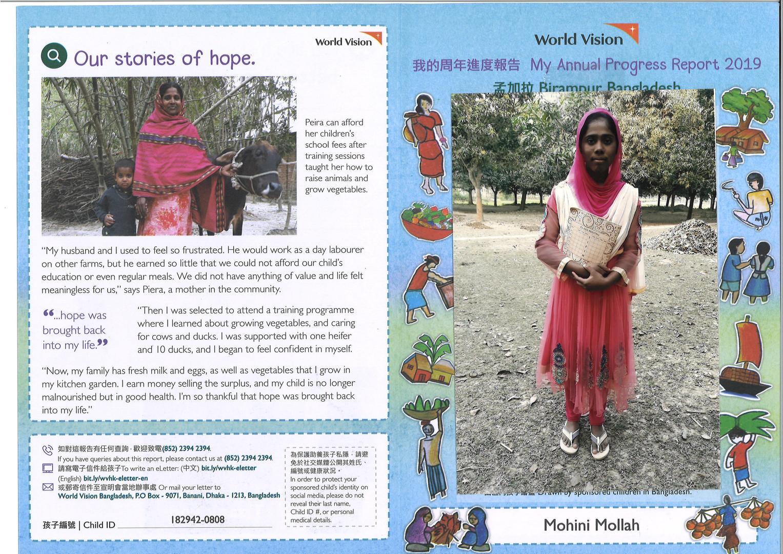 Bangladesh-Mohini Mollah Progress report