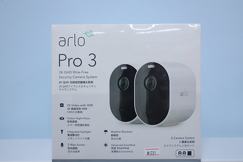 Arlo Pro3 Camera, 2k QHD Wire-Free Security 2-camera System