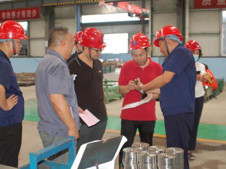 中国500强企业京博集团领导到隆泰公司视察工厂,对深度合作达成了意向。
