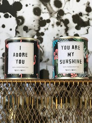 Set of 2 Candles - I ADORE YOU