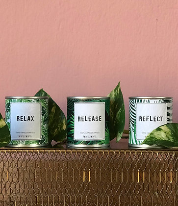 Set of 3 Candles - Relax | Release | Reflect