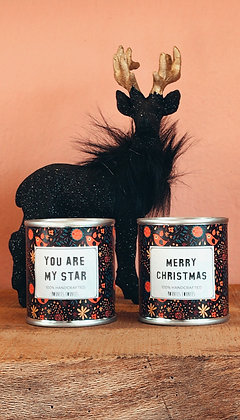 Set of 2 Candles - MERRY CHRISTMAS