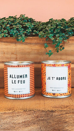 Set of 2 Candles - ALLUMER LE FEU
