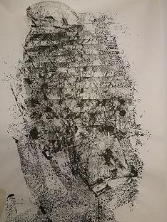 tressage encre de chine sur papier japon